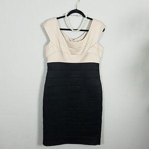 🍸 Maggy London 🍸 Cream & Black Cocktail Dress